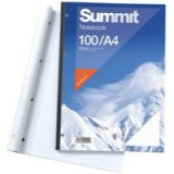 Summit Refill Pad Feint Ruled with Margin 60gsm 160 Pages A4 White Code M76003