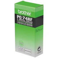 Brother Fax Ribbon Black for T74/76 Pack 4 Code PC74RF