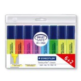 Staedtler Textsurfer Classic Highlighter Line Width 2.5-4.7mm Assorted Code 364AWP8 Pack 6 + 2 FREE