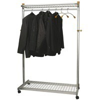Image for Alba Elegant Mtl/Wood Garment Coat Rack
