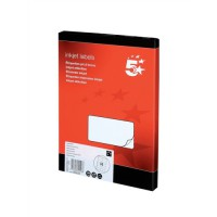 Image for 5 Star Addressing Labels Inkjet 14 per Sheet 99.1x38.1mm White [1400 Labels]
