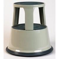 Image for 5 Star Step Stool Mobile Spring-loaded Castors up to 150kg Top D290xH430xBase D435mm 5kg Grey