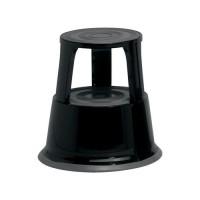 Image for 5 Star Step Stool Mobile Spring-loaded Castors up to 150kg Top D290xH430xBase D435mm 5kg Black