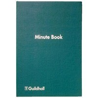 Image for Guildhall Minute Book 160 Numbered Pages with A-Z index W298xH203mm Green Ref 32/MZ