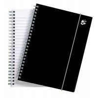 Image for 5 Star Notebook Wirebound Polypropylene Elasticated 80gsm A5 Black [Pack 6]