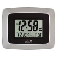 Image for Acctim Avanti RC Desk Clock Silver/Black 74467