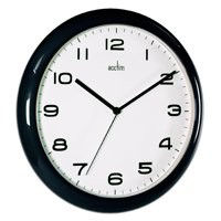 Image for Acctim Black Aylesbury Wall Clock 92/302