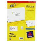 Avery QuickDRY Inkjet Label 63.5x38.1mm 21 per Sheet Pack of 25 J8160-25