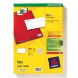 Avery Mini Labels Laser 65 per Sheet 38.1x21.2mm White Ref L7651-100 [6500 Labels]