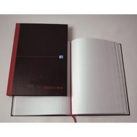 Image for Black n Red Book Casebound 90gsm Single Cash 192pp A5 Ref 100080414 [Pack 5]