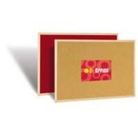 Image for Bi-Office Memo Cork Board Red 600x400mm FB0310010