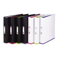 Image for Elba Mycolour A4 Ring Binder Black and Pink 400019115
