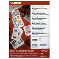 Image for Canon High Resolution Inkjet Paper A4 Pack of 50 HR-101A4