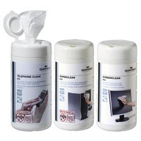 Image for Durable Workstation Cleaning Wipes Screenclean Superclean Telephone Clean 100 Wipes Ref 5783[Triple Pack]