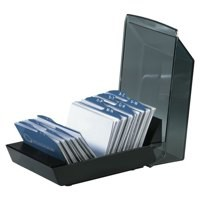 Image for Rolodex Card Tray Index Capacity 100 Cards 67x102mm Black Ref S0793430
