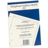 Image for Goldline Address Book Refill Ruled Feint A5 GA5/R
