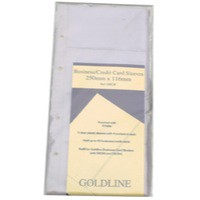 Image for Goldline Business Card Refill Clear Pack of 5 GBC/R