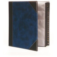 Image for Goldline Business Card Binder 9 Pocket A4 Blue DBCB9/BL