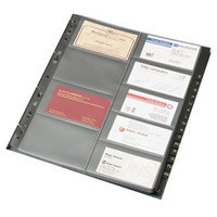 Image for Goldline Business Card Binder Refill A4 Pack of 5 GBC9/R