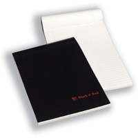 Image for Black n Red A4 Executive Pad Ruled Feint and Margin E65010