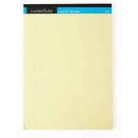 Image for Cambridge Legal Pad A4 50 Leaf Perforated Ruled Feint and Margin Yellow F79025