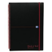 Image for Black n Red Wirebound Elasticated Meeting Book A4 Polypropylene Cover H66071