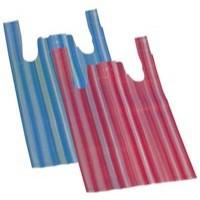 Image for Carrier Bag Vest-Style Striped Pack 2000 BAG-SPIC01-B