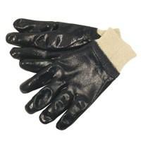 Image for JSP Heavy Duty Nitrile Knitwrist Glove Size 9 Blue ACG276-1J0-500
