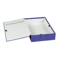 Image for Concord Contrast Foolscap Laminated Box File Purple 13484