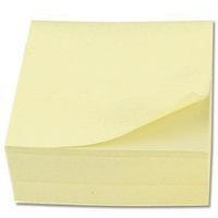 Image for Q-Connect Yellow 76x76mm Quick Note Cube