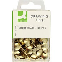 Q-Connect Drawing Pin Solid Head Pack of 120