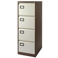 Image for Jemini 4-Drawer Filing Cabinet Coffee/Cream