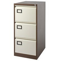 Image for Jemini 3-Drawer Filing Cabinet Coffee/Cream