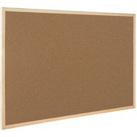 Image for Q-Connect Cork Board Wooden Frame 300x400mm