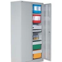 Jemini 2-Door Stationery Cupboard 914x400x1806mm 3 Shelves Grey