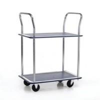 Image for Barton 2 Shelf Trolley/Chrome Hndl PST2