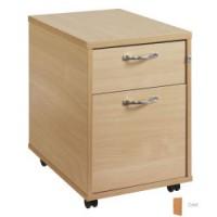 Image for 2 Drawer Mobile Pedestal - Oak