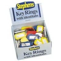 Image for Stephens Identitab Keyring 30mm Assorted Pack of 72
