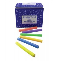 Image for Study Time Chalk Assorted Colours Pk100