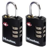Image for Master Lock ABS TSA-Certified Combi Padlock 30mm Pack of 2 40046