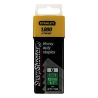 Image for Stanley 12mm 1/2in Type G Staples Pk1000