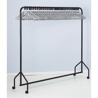 Image for Garment Rail Black With 30 Grey Hangers 311418