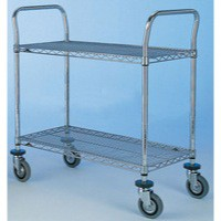 Image for 2 Tier 457x914mm Chrome/Steel Trolley