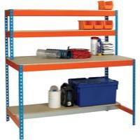 Image for Workstation 1200x750mm Blue and Orange