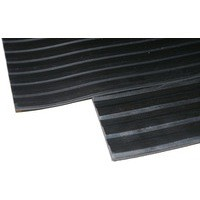 Image for Black Broad 3mm 900x1000mm Ribbed Mat