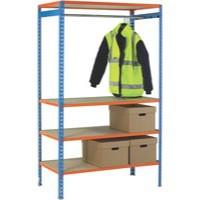 Image for Orange 900mm Garment Rail Extra Poles
