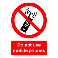 Image for Do Not Use Mobile Phones A5 SelfAdh Sign