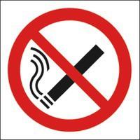 Image for No Smoking Image 150x150mm Self-Adh Sign