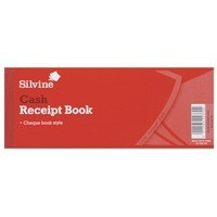 Image for Silvine Receipt Book 3x8 Inches With Counterfoil 233
