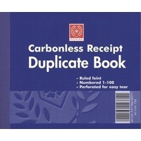 Image for Silvine Carbonless Duplicate Receipt Book 4.125x5 inches 720-T